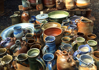 So many beautiful pots after the unloading