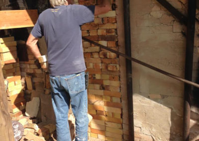 Bricking up the kiln
